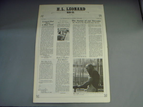 H.L.Leonard QUARTERLY NEWSPAPER Vol.1 No.2 VG