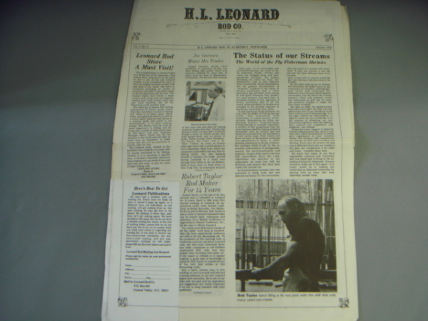 H.L.Leonard QUARTERLY NEWSPAPER Vol.1 No.2 G
