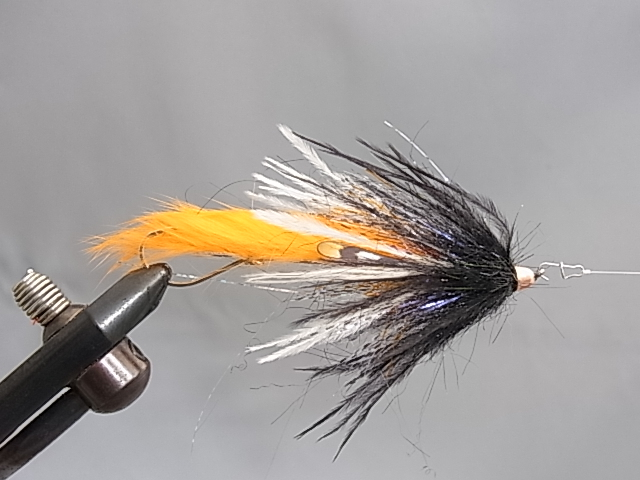 "Aqua Dirty Hoh Steelhead 3.5"" Black/Orange"