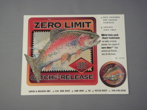 ZERO LIMIT CATCH & RELEASE 1999・ステッカー